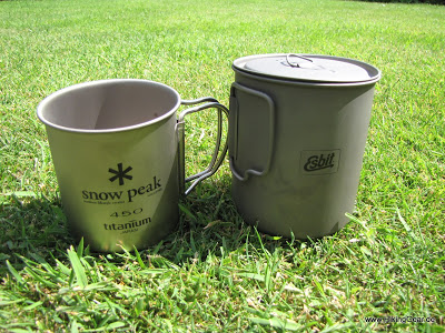 Snow Peak Titanium Single Cup 450 ml als Ergänzung zum UL-Kochset
