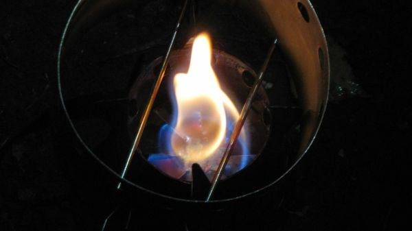 Flammenbild des Four Dogs Bushcooker LT1 im bisherigen Praxistest